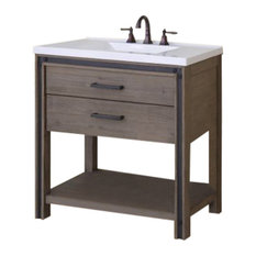 "Miseno MVUMS36COM Urban Metallo 36"" Vanity Set"