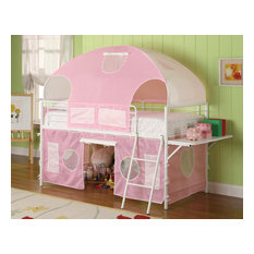 Emma Mason Signature Julian Youth Twin Tent Loft Bed in Pink and White