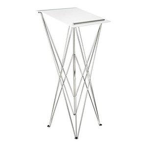 Modern Foldable Lectern, Silver Aluminium Base and Tabletop, Plexiglass