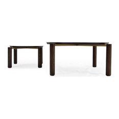 Cantor Nesting Table, Finish: Ebony, Brushed Nickel