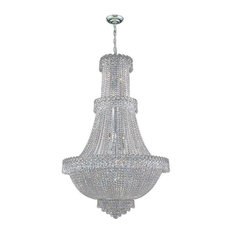 Empire 17 Light Chandelier In Chrome With Clear Crystal