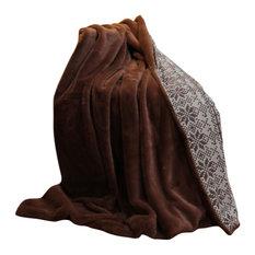 Tiana Throw Blanket, Coffee, 50x60