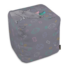 """Oliver Gal Maggie P. Chang """"Rhino Rock Solidtude"""" Ottoman, 18""""x18"""""""