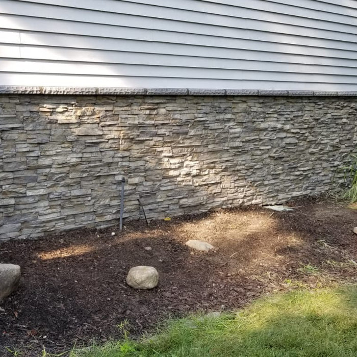 Cultured stone installed on this home
