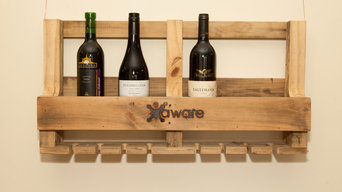 Aware Industries Recycled Pallet Furniture wine rack