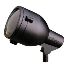 HID Line Voltage 1-Light Accent Lamp Textured Black Clear Glass