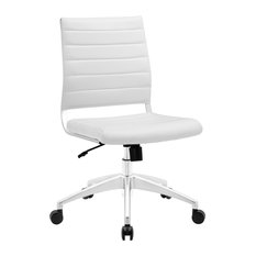 scandinavian office chairs. America Luxury - Modern Contemporary Office Chair, White Faux Leather Chairs Scandinavian W