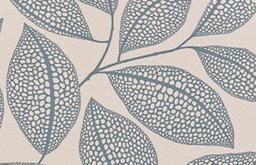 Pebble Leaf Wallpaper, Boathouse Blue