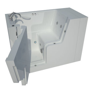 27 X 53 Air Whirlpool Jetted Walk In Bathtub Deluxe Handicap