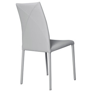 Vega Contemporary Leather Chair, Grey