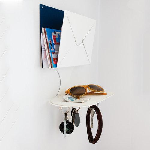 Letter Hylla, Vit Metall - Display & væghylder