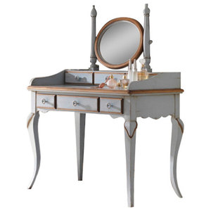 Dressing Table and Matching Mirror With 6 Drawers