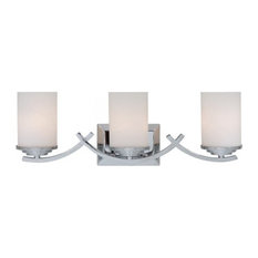 yosemite home decor 3 lights vanity with white opal glass chrome bathroom vanity - Modern Bathroom Vanity Lighting