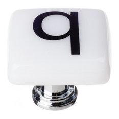 New Vintage Square Letter Q, Polished Chrome Base