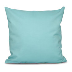 "Solid Decorative Outdoor Pillow, Aqua, 20""x20"""