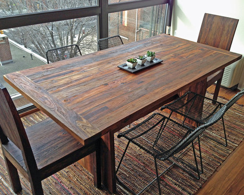 Reclaimed Old Growth Teak Dining Table, 3u0027 X 6u0027   Dining Tables