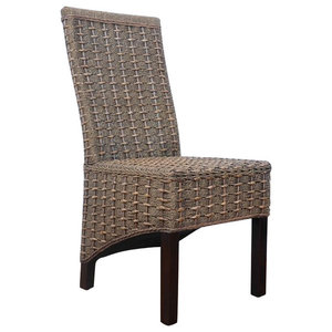 Surprising D Art Collection Mahogany Seagrass Dining Chair Set Of 6 Machost Co Dining Chair Design Ideas Machostcouk