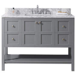 Nice Transitional Bathroom Vanities And Sink Consoles by Burroughs Hardwoods Inc