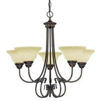 Millennium Lighting, 1095-RBZ, Fulton 5-Light Chandelier Rubbed Bronze