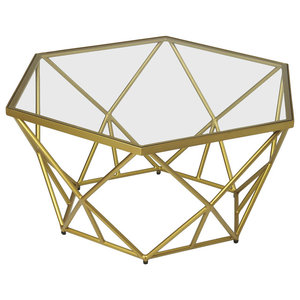 Alondra Gold Powder Coated Cocktail Table - Gold