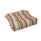 "20"" Outdoor Chair Cushion, Malibu Stripe"