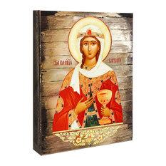 "Saint Barbara Wall Figurine, 8""x6"""