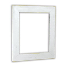 """Vintage White Picture Frame, Solid Wood, 5""""x7"""""""