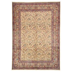 Kashan Oriental Rug, Hand-Knotted, 382x274 cm