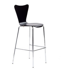 modway ernie barstool black bar stools and counter stools