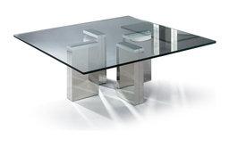 MODERN SQUARE GLASS COFFEE TABLE URBINO