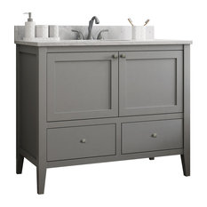 Vanguard Bathroom Vanity With 2 Bottom Drawers, Dove Gray, 48""