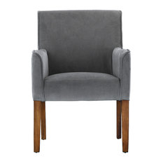 Beau Sofamania   Modern Sleek Linen Fabric Accent Armchair, Gray   Armchairs And  Accent Chairs