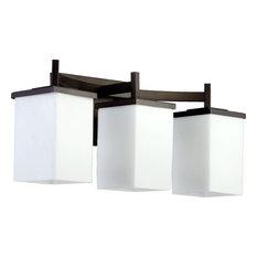 Delta Bathroom Lighting delta dryden 3 6 setting diverter bathroom vanity lights | houzz