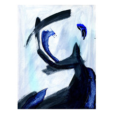 """""""Blue Waves I Oil Painting"""" Oil Painting Print on Wrapped Canvas"""