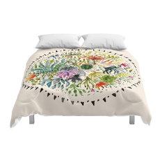 Society6 Succulents Mandala Comforter, King, 104x88