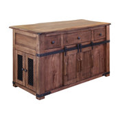 Jacob Solid Wood Kitchen Island
