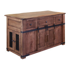 Burleson Home Furnishings   Jacob Solid Wood Kitchen Island   Kitchen  Islands And Kitchen Carts