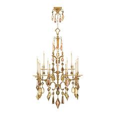 Fine Art Lamps 714640-1ST Encased Gems Gold Multi Color Crystal 24 Light Chandel