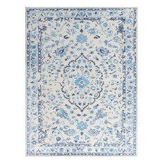 """Amer Artist Art-5 Rug, White/Blue, 7'6""""x9'6"""""""