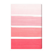 "Oliver Gal ""The Right Shade of Pink"" Fine Art Canvas, 30""x45"""