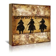 """Cowboy Strong 3, 24""""H x 24""""W x 1.5""""D"""