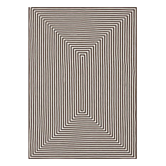 """Hand-braided 100% Polypropylene In / Out Area Rug by Loloi, Brown, 5'x7'6"""""""