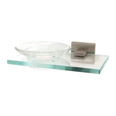 """Alno Modern Soap Dish 6-3/4"""", Satin Nickel"""
