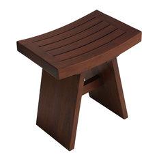 cortesi home sofi shower stool solid teak wood shower benches u0026 seats