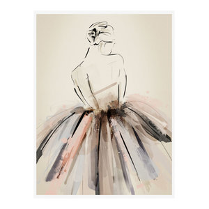 """On Pointe"" Figurative Art Print, Print Only, 50x70 cm"