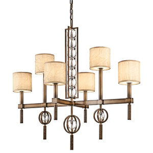 6-Light Rectangular Chandelier