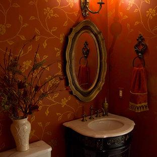 Exemple d'un WC et toilettes chic.