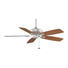 Edgewood Decorative Fan, Satin Nickel/Walnut/Light Walnut