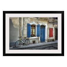 """Arles Bicycle"" Black Framed Art Print, 38""x28""x1"""