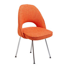 Modway International   Saarinen Inspired Side Chair, Fabric, Orange   Dining  Chairs